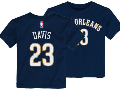 New Orleans Pelicans Anthony Davis Nike NBA Kids Replica Name and Number T-Shirt