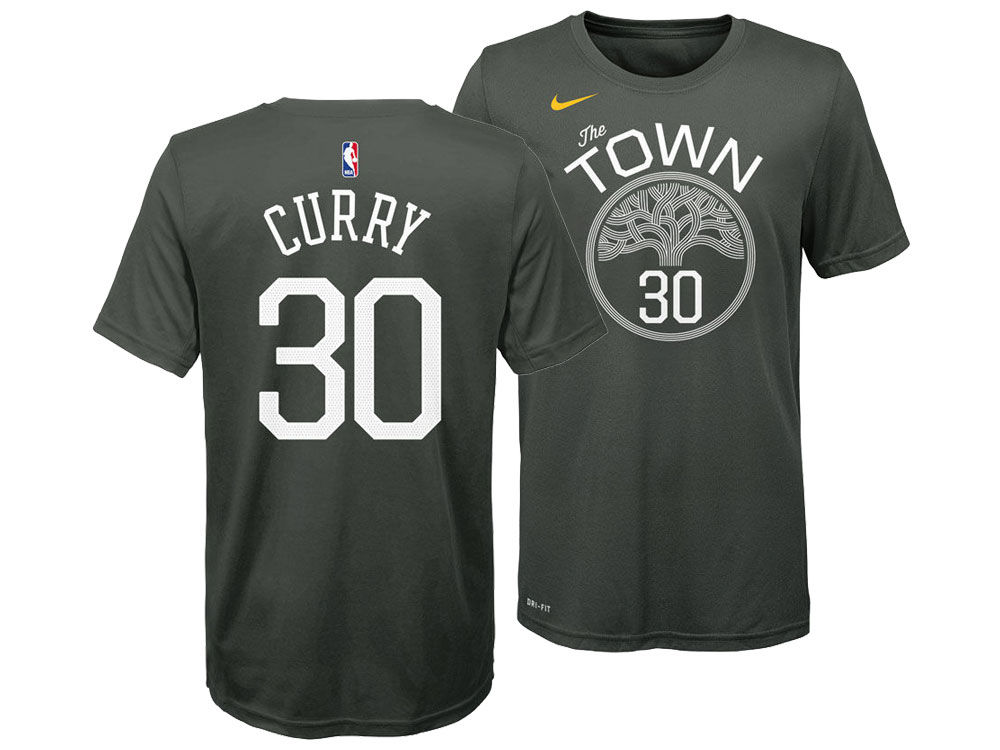 Golden State Warriors Stephen Curry Nike NBA Youth Statement Name and Number  T-shirt  cb8823062