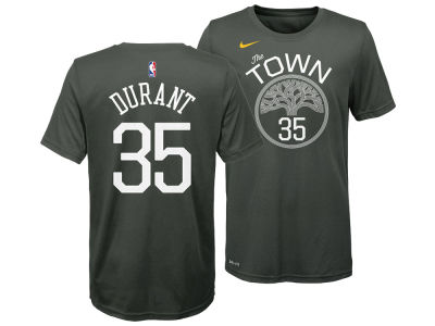 Golden State Warriors Kevin Durant Nike NBA Youth Statement Name and Number T-shirt