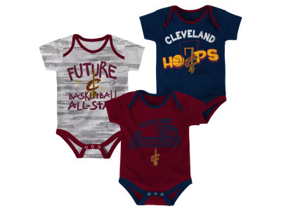 Cleveland Cavaliers Outerstuff NBA Newborn 3 Piece Bodysuit Set