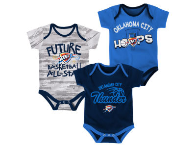 Oklahoma City Thunder Outerstuff NBA Newborn 3 Piece Bodysuit Set