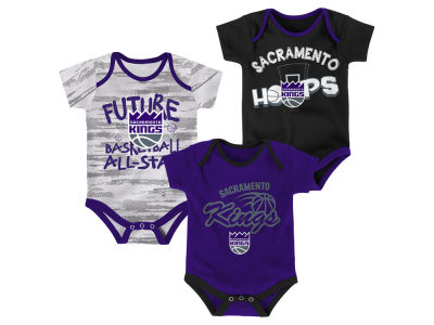 Sacramento Kings Outerstuff NBA Newborn 3 Piece Bodysuit Set
