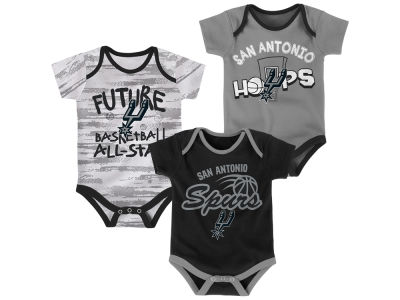 San Antonio Spurs Outerstuff NBA Newborn 3 Piece Bodysuit Set
