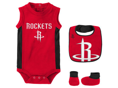 Houston Rockets Outerstuff NBA Newborn Overtime Creeper Bib & Bootie Set