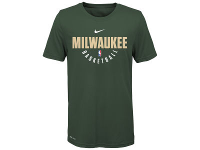 Milwaukee Bucks Nike NBA Youth Elite Practice T-Shirt