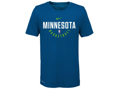 Minnesota Timberwolves Nike NBA Youth Elite Practice T-Shirt