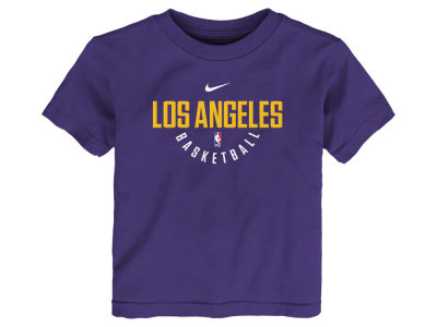 Los Angeles Lakers Nike NBA Kids Elite Practice T-Shirt