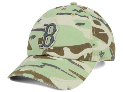 Boston Red Sox '47 MLB Camo Tarpoon '47 CLEAN UP Cap