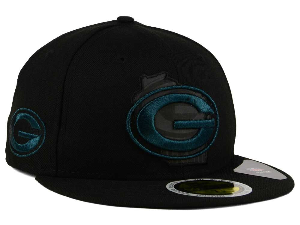 Green Bay Packers New Era NFL State Flective Metallic 59FIFTY Cap ... eac89651c