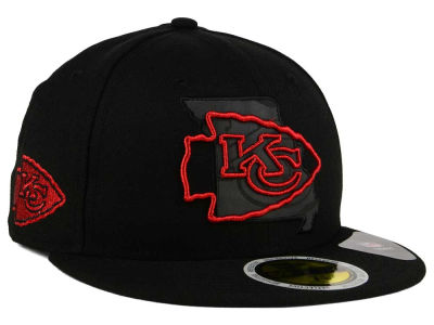 Kansas City Chiefs New Era NFL State Flective Metallic 59FIFTY Cap