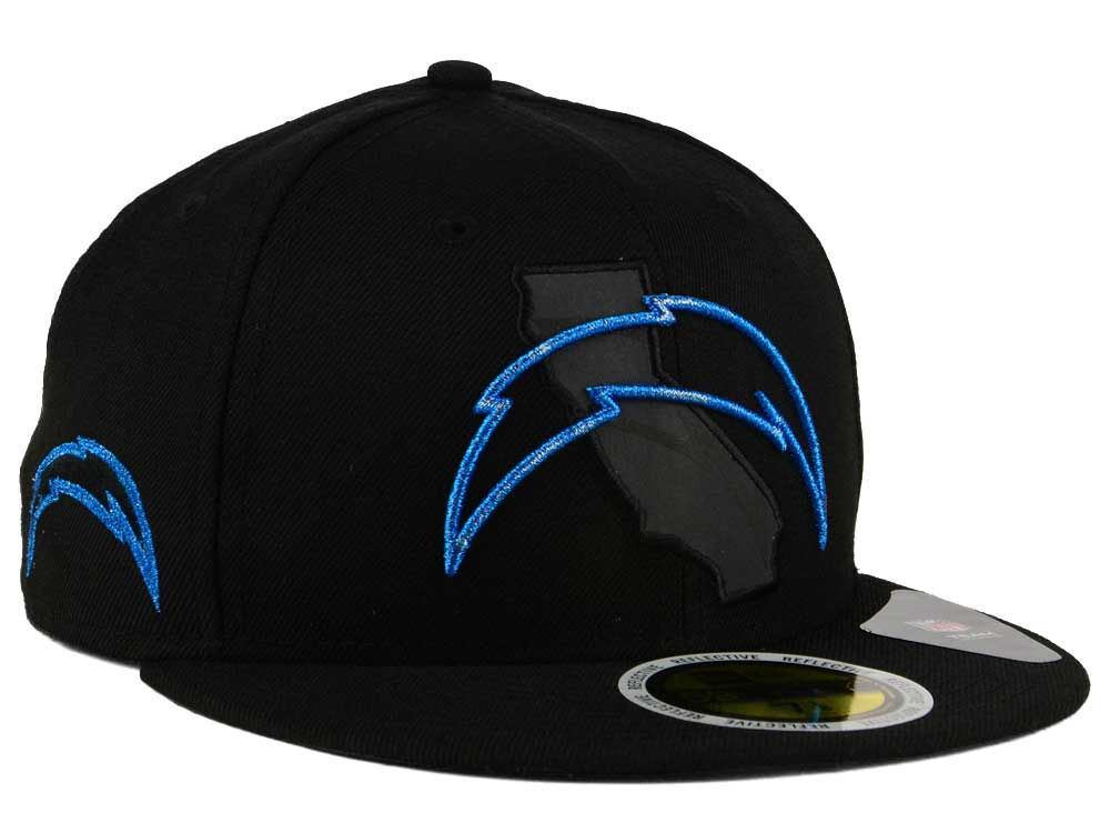 f913eb3eb39 Los Angeles Chargers New Era NFL State Flective Metallic 59FIFTY Cap ...