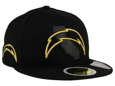 Los Angeles Chargers New Era NFL State Flective Metallic 59FIFTY Cap