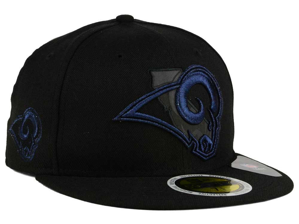 071d41f5ee5 Los Angeles Rams New Era NFL State Flective Metallic 59FIFTY Cap ...