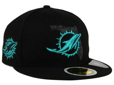 Miami Dolphins New Era NFL State Flective Metallic 59FIFTY Cap