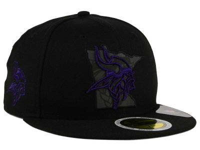 Minnesota Vikings New Era NFL State Flective Metallic 59FIFTY Cap