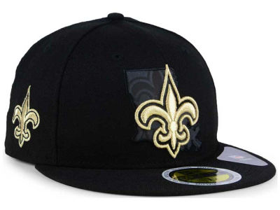 New Orleans Saints New Era NFL State Flective Metallic 59FIFTY Cap