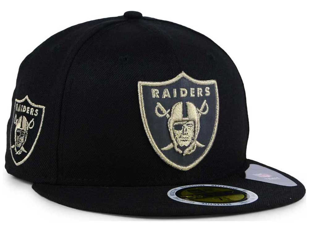 Oakland Raiders New Era NFL State Flective Metallic 59FIFTY Cap ... 9d828e188