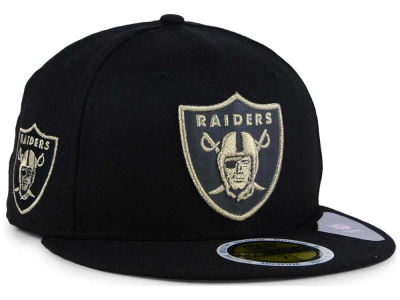Oakland Raiders New Era NFL State Flective Metallic 59FIFTY Cap