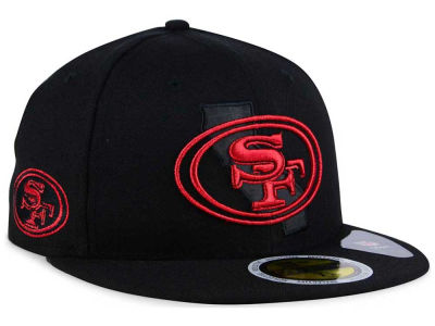 San Francisco 49ers New Era NFL State Flective Metallic 59FIFTY Cap