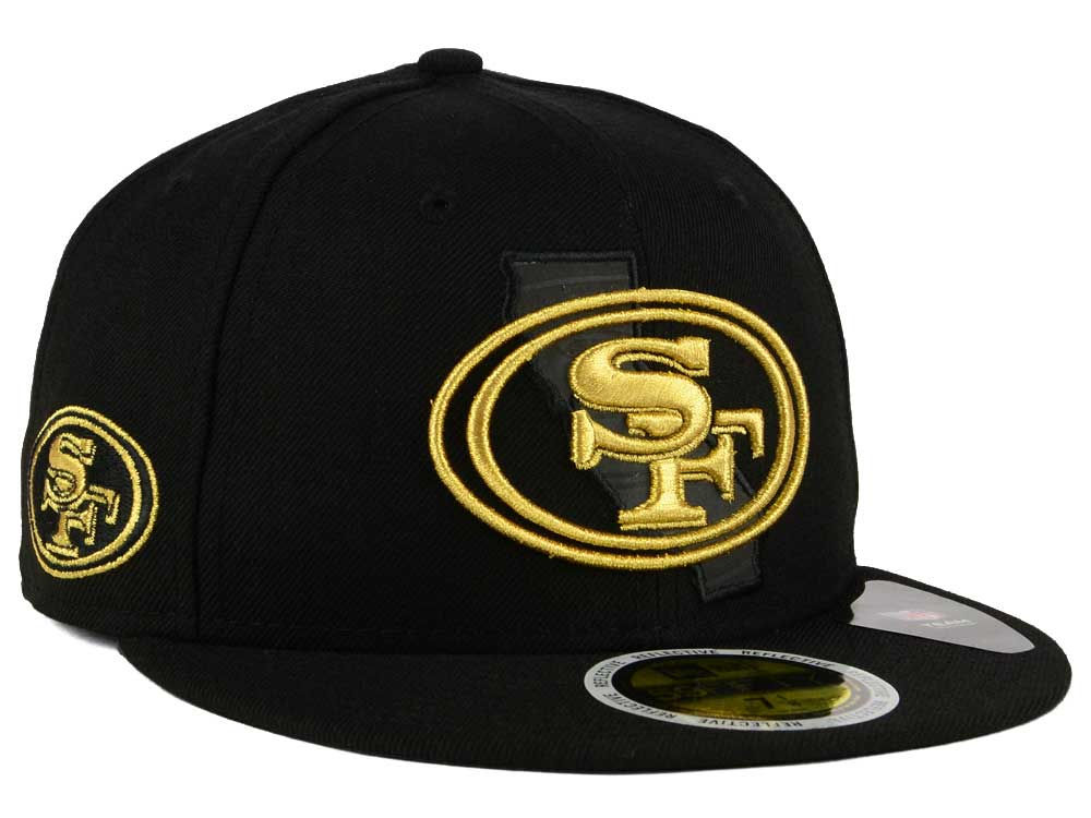 San Francisco 49ers New Era NFL State Flective Metallic 59FIFTY Cap ... e39c28303bac