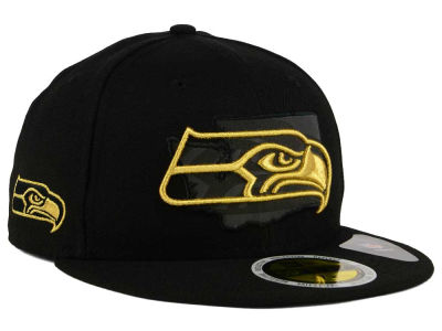 Seattle Seahawks New Era NFL State Flective Metallic 59FIFTY Cap