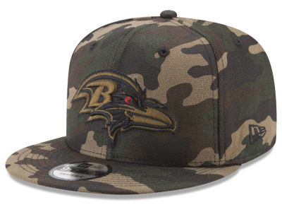 Baltimore Ravens New Era NFL Camo on Canvas 9FIFTY Snapback Cap