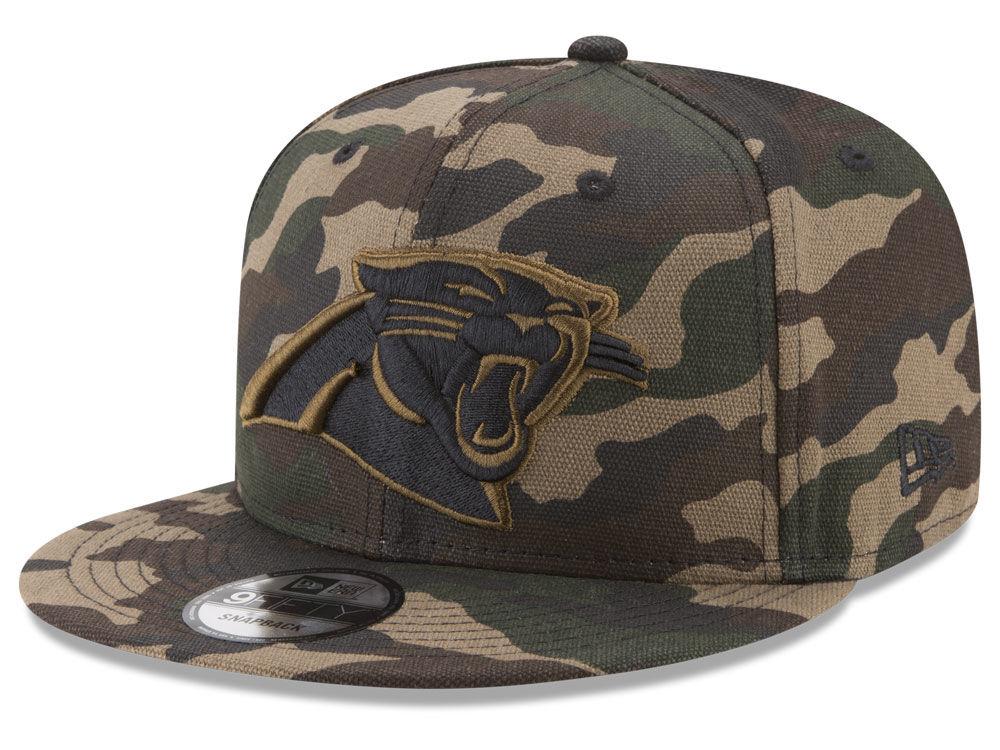 Carolina Panthers New Era NFL Camo on Canvas 9FIFTY Snapback Cap ... 6d0f1055f