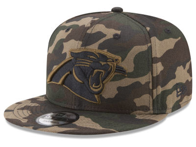 Carolina Panthers New Era NFL Camo on Canvas 9FIFTY Snapback Cap