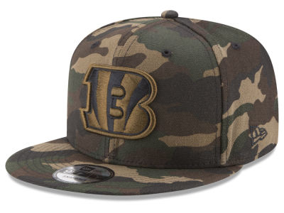 Cincinnati Bengals New Era NFL Camo on Canvas 9FIFTY Snapback Cap