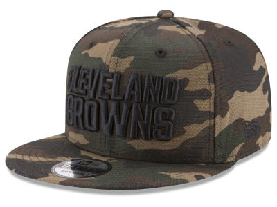 Cleveland Browns New Era NFL Camo on Canvas 9FIFTY Snapback Cap