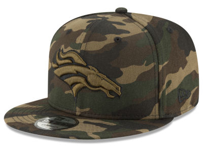 Denver Broncos New Era NFL Camo on Canvas 9FIFTY Snapback Cap
