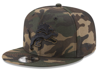 Detroit Lions New Era NFL Camo on Canvas 9FIFTY Snapback Cap