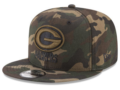 Green Bay Packers New Era NFL Camo on Canvas 9FIFTY Snapback Cap