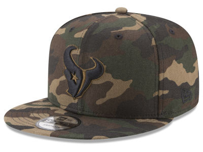 Houston Texans New Era NFL Camo on Canvas 9FIFTY Snapback Cap