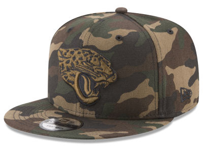 Jacksonville Jaguars New Era NFL Camo on Canvas 9FIFTY Snapback Cap