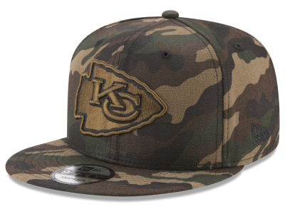 Kansas City Chiefs New Era NFL Camo on Canvas 9FIFTY Snapback Cap