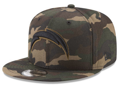 Los Angeles Chargers New Era NFL Camo on Canvas 9FIFTY Snapback Cap