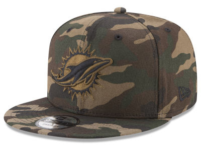 Miami Dolphins New Era NFL Camo on Canvas 9FIFTY Snapback Cap