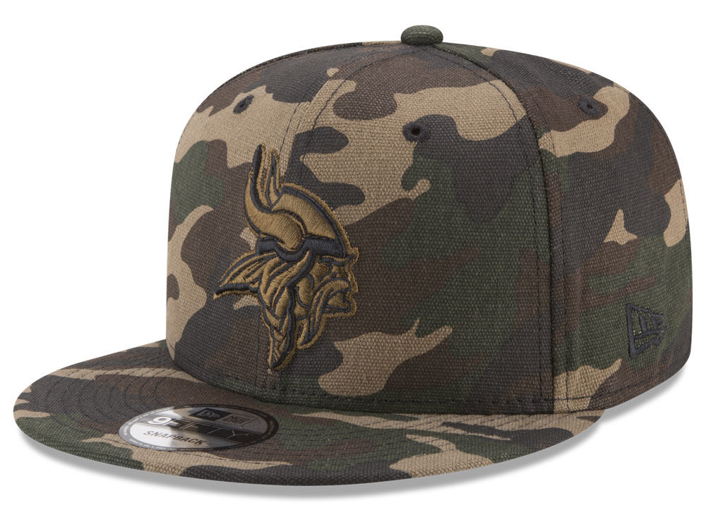 13bef39f9ac Minnesota Vikings New Era NFL Camo on Canvas 9FIFTY Snapback Cap ...