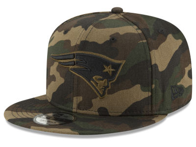 New England Patriots New Era NFL Camo on Canvas 9FIFTY Snapback Cap