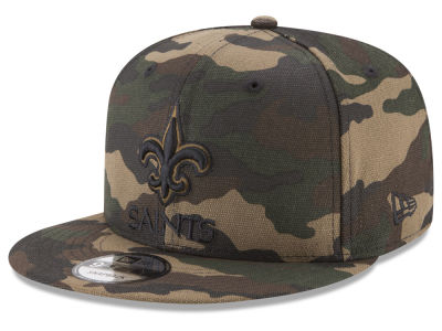 New Orleans Saints New Era NFL Camo on Canvas 9FIFTY Snapback Cap