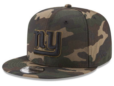 New York Giants New Era NFL Camo on Canvas 9FIFTY Snapback Cap