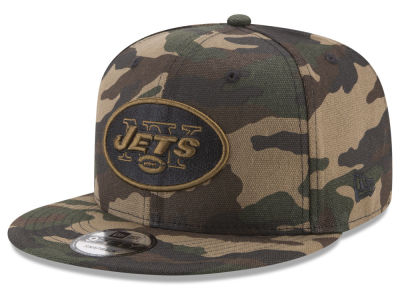 New York Jets New Era NFL Camo on Canvas 9FIFTY Snapback Cap