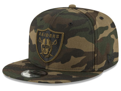 Oakland Raiders New Era NFL Camo on Canvas 9FIFTY Snapback Cap