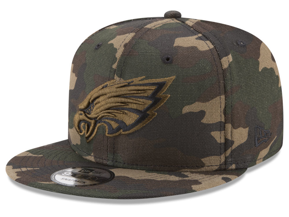 Philadelphia Eagles New Era NFL Camo on Canvas 9FIFTY Snapback Cap ... 3a678895c
