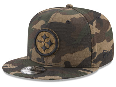 Pittsburgh Steelers New Era NFL Camo on Canvas 9FIFTY Snapback Cap