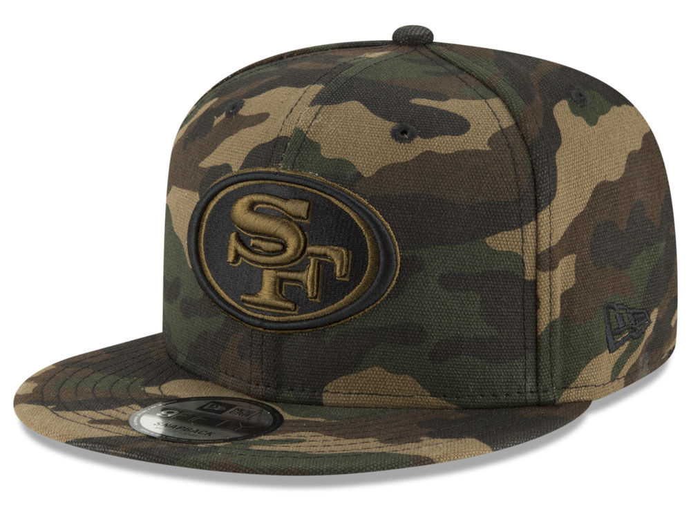 2f57cd9a328 San Francisco 49ers New Era NFL Camo on Canvas 9FIFTY Snapback Cap ...