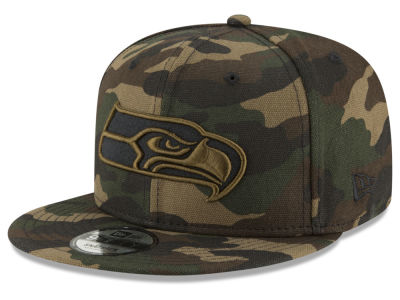 Seattle Seahawks New Era NFL Camo on Canvas 9FIFTY Snapback Cap