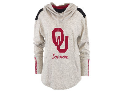 Oklahoma Sooners Pressbox NCAA Women's Gibson Long Sleeve Hooded Sweatshirt