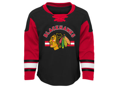 Chicago Blackhawks Outerstuff NHL Toddler Rink Rat Long Sleeve Pant Set